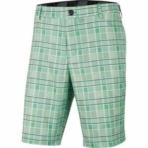 NIKE Men's Flex Plaid Golf Shorts Green